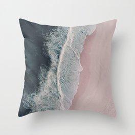 Sands of Cameo Pink Throw Pillow