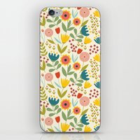 scandinavian iPhone & iPod Skins featuring Scandinavian summer by Olly Dolly Design