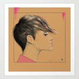 Left in Pink Art Print
