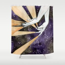 magic fingers in space Shower Curtain