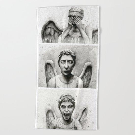 Weeping Angels Beach Towel