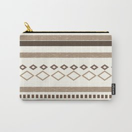 Western Pattern, Out West, Patterns, Brown, Tan, Beige, Shapes, Geometric Western Art Carry-All Pouch