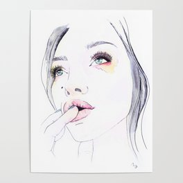 Ivy Levan   Watercolor Beauty Poster