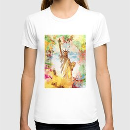 Statue of liberty - Watercolor Lady T-shirt