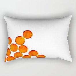 Crystal Balls Orange Rectangular Pillow