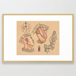 BJJ Flash Framed Art Print