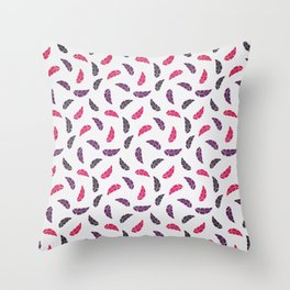 Colorful leaf seamless pattern design background Throw Pillow
