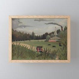 Henri Rousseau - Landscape and Four Young Girls (Paysage et quatre jeunes filles) Framed Mini Art Print