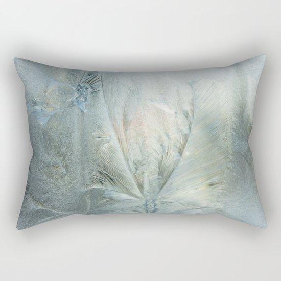 Frozen window Rectangular Pillow
