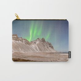 VESTRAHORN MOUNTAIN AURORA ICELAND NORTHERN LIGHTS LANDSCAPE Carry-All Pouch