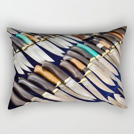 Forged hunting knives Rectangular Pillow