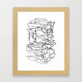 Kaslo River Flow Framed Art Print