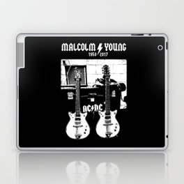 Malcolm Young - AC DC - Guitar - Rock Music - Pop Culture Laptop & iPad Skin