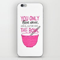 yolo iPhone & iPod Skins featuring YOLO by Rachel Butler