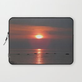 Ste-Anne-Des-Monts Sunset on the Sea Laptop Sleeve