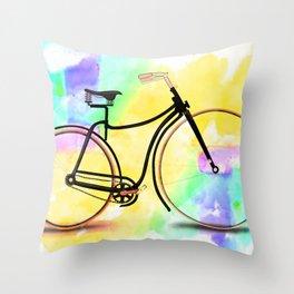 Pedal-driven beauty Throw Pillow