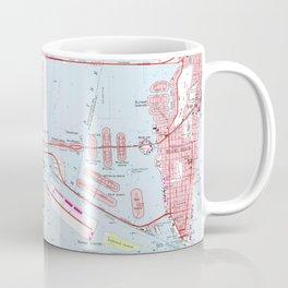Vintage Map of Miami Florida (1962) Coffee Mug