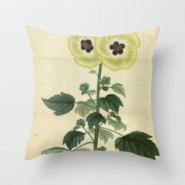 Flower hibiscus pruriens Stinging Hibiscus Throw Pillow