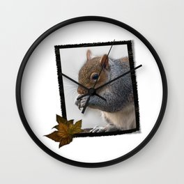 squirrel in frame Wall Clock