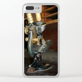 Old Microscope Clear iPhone Case