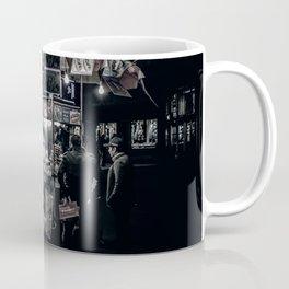 New York Street Vendor New York Hotdogs Black and White Print Coffee Mug