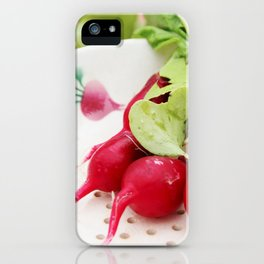 Radishes on a plate iPhone Case