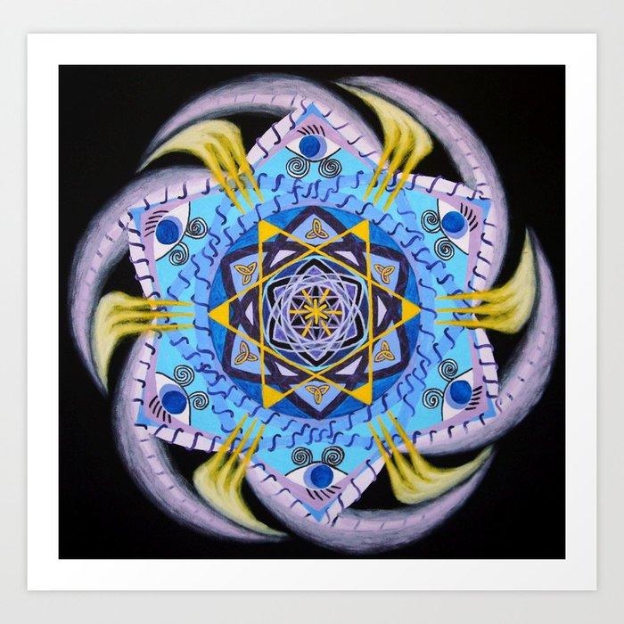 Eye wheel / Silmaratas Art Print