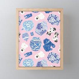 Chinoiserie Curiosity Cabinet Toss 5 Framed Mini Art Print