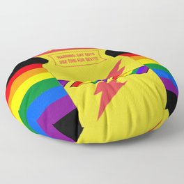 Rainbow poppers LGBT GAY PRIDE SEASON GIFTS Floor Pillow