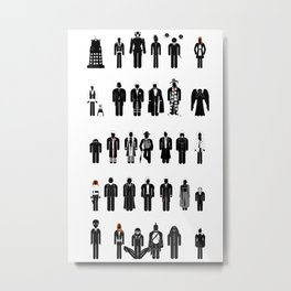 Time and Space Recognition Guide Metal Print