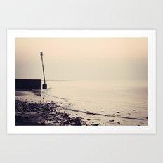 Golden Shoreline Art Print