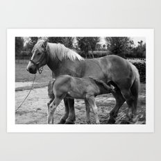 Mother and Child no.1 Art Print