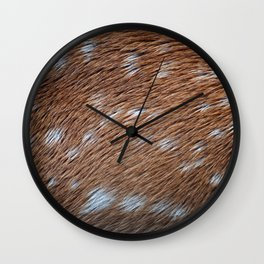 Deer Hide Wall Clock