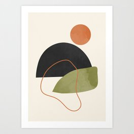 abstract minimal 64 Art Print