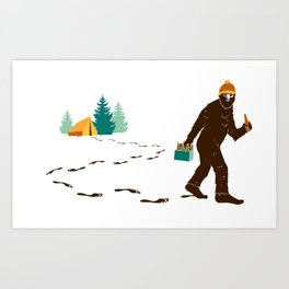 A Hairy Camp Robber Art Print