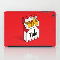 cigarettes iPad Cases featuring YOLO Cigarettes  by RJ Artworks