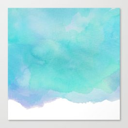 For The Love Of Aqua Canvas Print