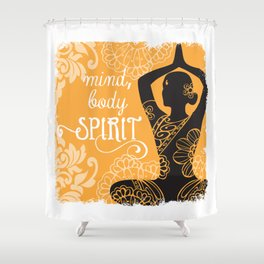 Mind, Body, Spirit Shower Curtain