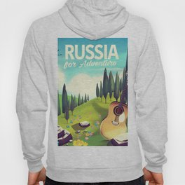 """Russia """"For adventure"""" Travel poster. Hoody"""