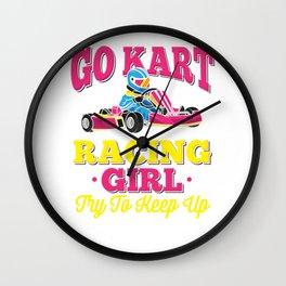 Go Kart Racing Girl - Funny Racing Gift - Go Cart Racer Wall Clock