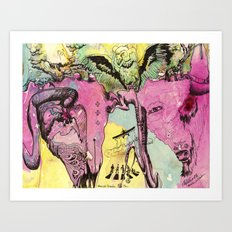 #102 Colombia, Vultures Everywhere Art Print