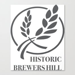 Brewers Hill Sign Black Canvas Print