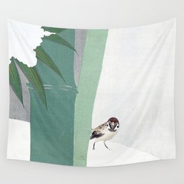 Bamboo in snow Wall Tapestry