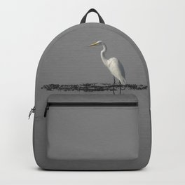 """Mirrored Egret"" by Murray Bolesta Backpack"