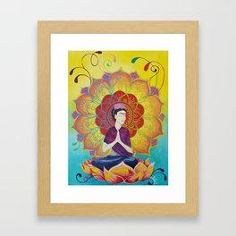 Frida Transcending Mandala and Lotus Blossom Framed Art Print