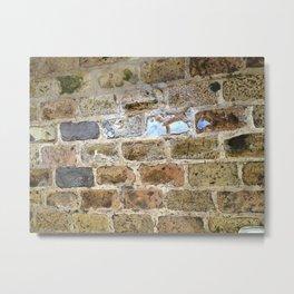 Brick, Coral, Wall, Historic St. Thomas, USVI Metal Print
