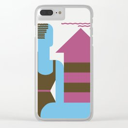 Fun on the beach jazz age Clear iPhone Case