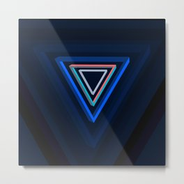 Impossible triangles series. Metal Print