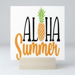 Aloha Summer Pineapple Mini Art Print