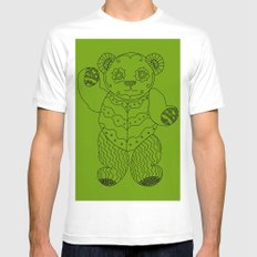 Bear of the Day White Mens Fitted Tee MEDIUM